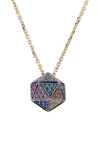 diamonds necklace pendant multicolor jewels