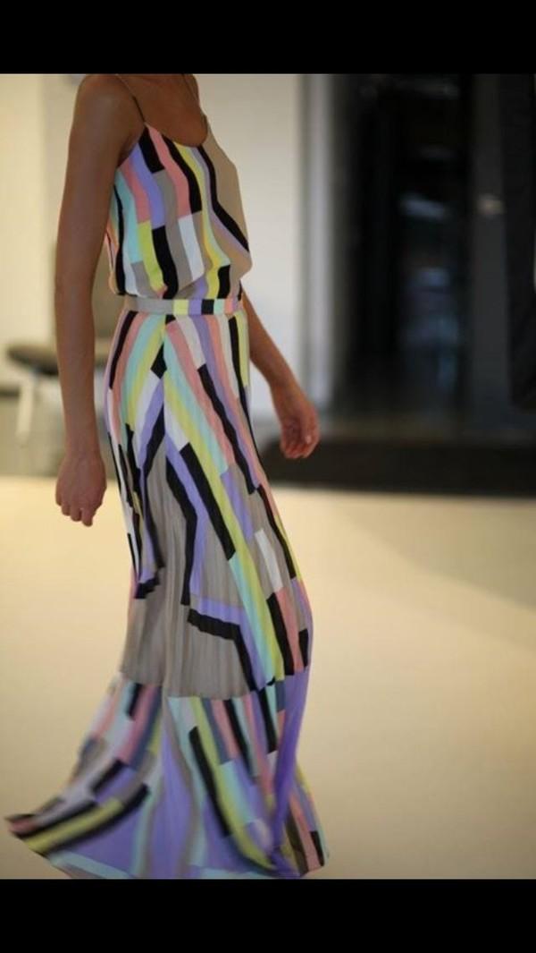 dress multicolour summer maxi