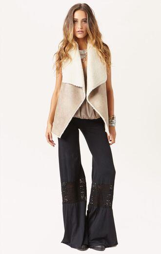 jacket vest coat sheep sheepskin fur faux fur