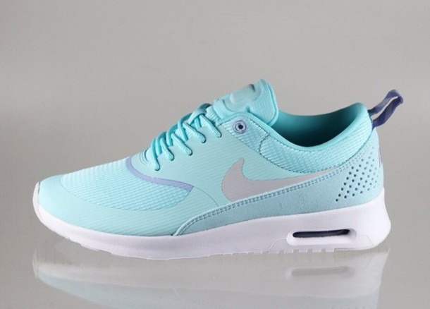 comfy shoe nike air max thea womens mint green white black