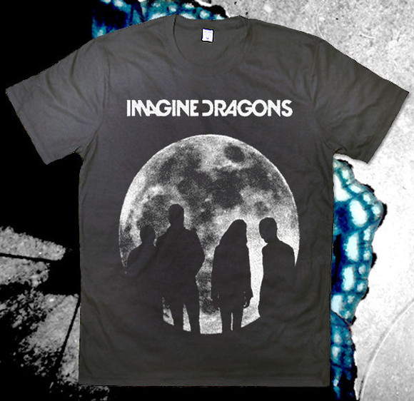 t-shirt black t-shirt imagine dragons