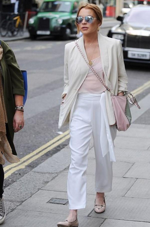 White Peg Leg Belted Trousers   Women's Fashion   Lavish Alice