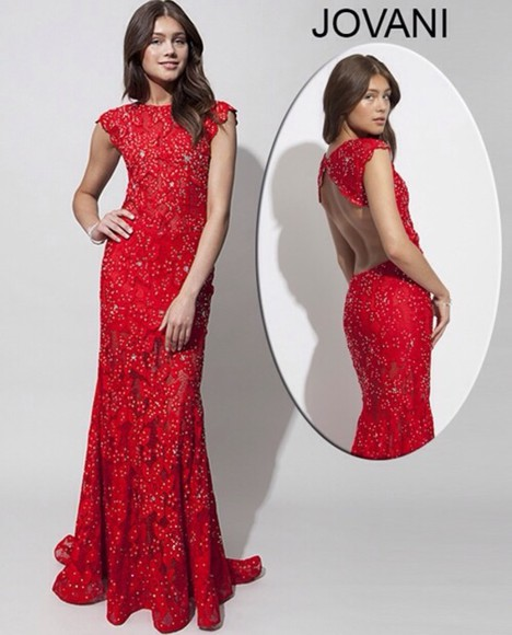 dress jovani prom dress red prom dresses lace dress
