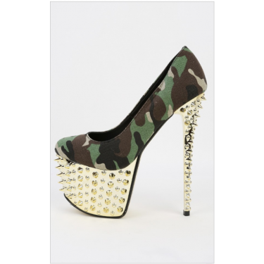 Camouflage Spike Pumps