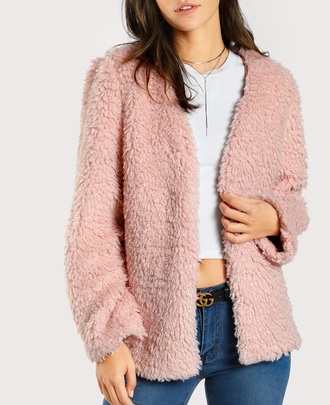 coat girly pink fur fur coat fur jacket