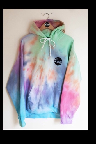 sweater leng jacket colorful neon tie dye oversized sweater shoe lace multi colored bright