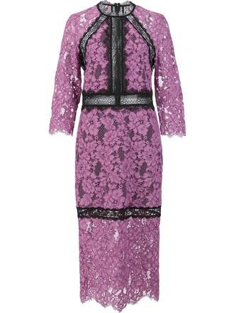 dress women cotton purple pink
