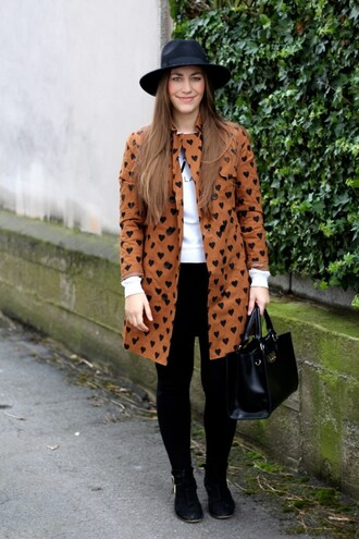 coat heart mango asos hat bag sweater
