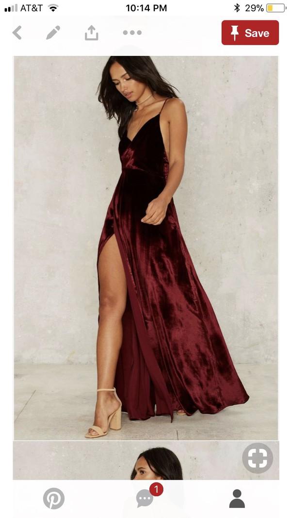 dress prom dress prom velvet dress velvet slit dress