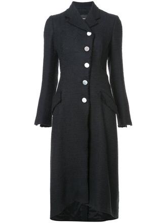 coat oversized women cotton black