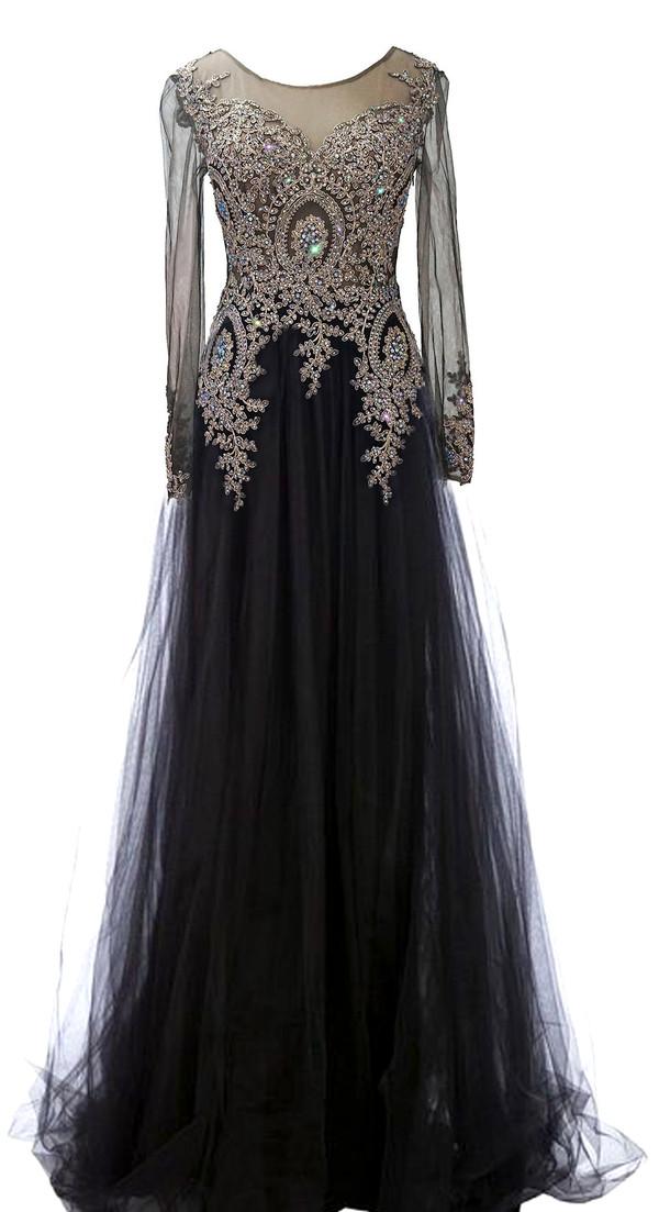 Amazon.com: Rongstore Women's Long Sleeve Formal Evening ...