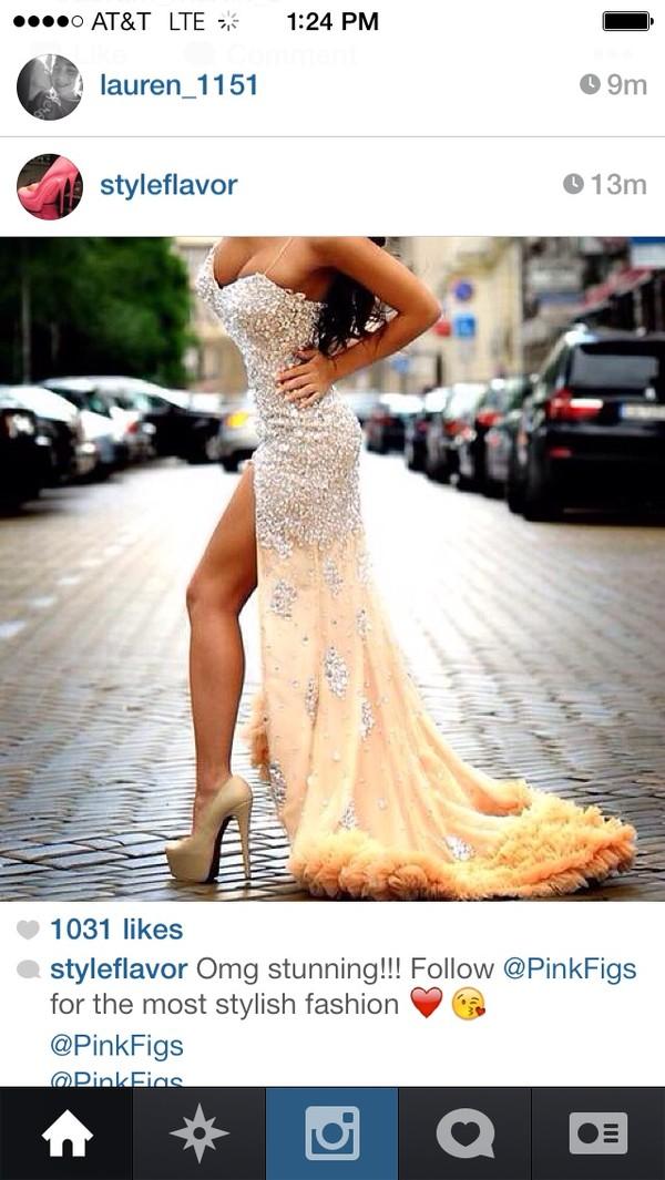dress diamonds yellow dress beautiful