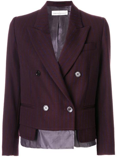 blazer women classic wool brown jacket