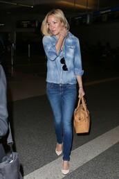 jeans,denim,pumps,shirt,denim shirt,kate hudson