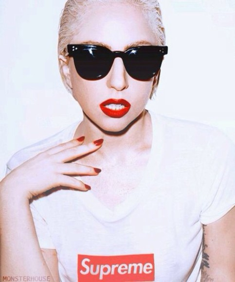 lady gaga shirt supreme tumblr