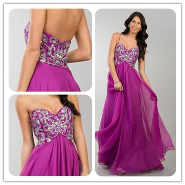 purple dress prom dress summer sale dress 2014 dress chiffon dress sweetheart dress off the shoulder dress beaded dress applique dress dress