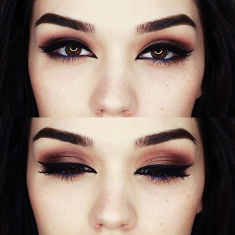 make-up eyeliner dark brown purpel eye makeup plum