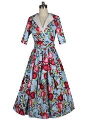 50s style,vintage dress,audrey hepburn,Pin up,floral dress,fashion dress,women's dress,autumn/winter,dress