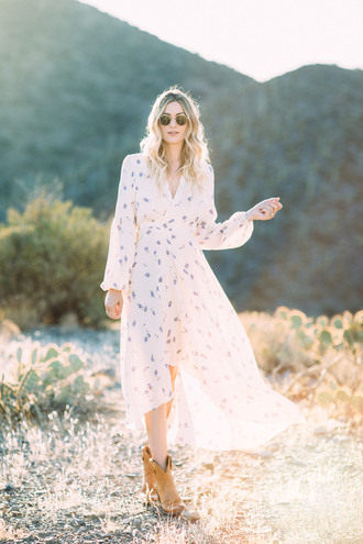 a little dash of darling blogger dress shoes sunglasses romantic dress midi dress ankle boots white dress