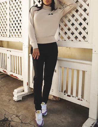 beige sweater turtleneck