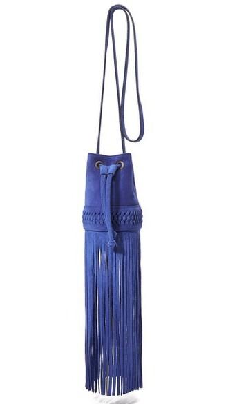 long baby bag bucket bag blue royal blue