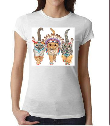 indian cats  tshirt screen printed cool teeshirt by tshirtsdepo