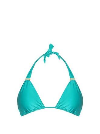 bikini bikini top green swimwear