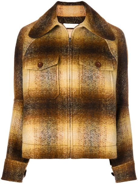 Chloe jacket women mohair cotton brown