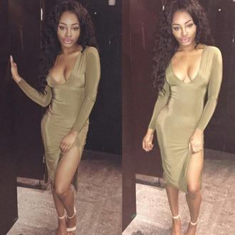 dress khaki dress khaki long sleeve dress