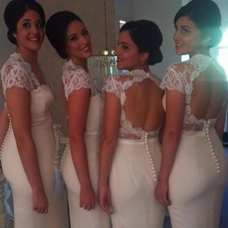 dress lace dress bridesmaid long bridesmaid dress long prom dress lace prom
