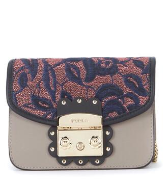 mini bag shoulder bag leather grey