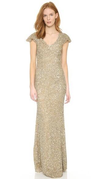 gown v neck dress