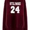 Stilinski 24 lacrosse beacon hills red maroon hoodies