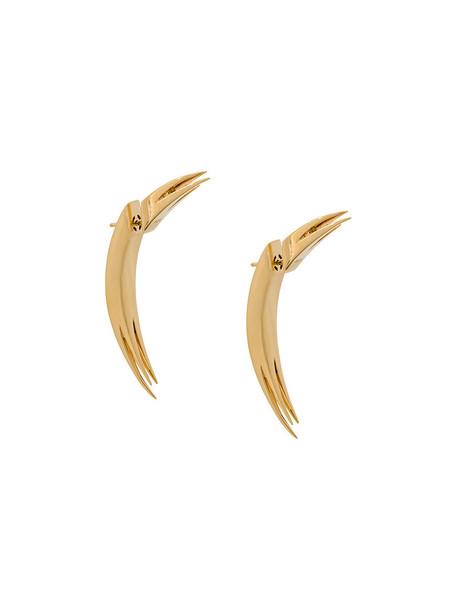 Kasun London women earrings gold silver grey metallic jewels