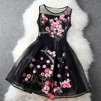 dress cute dress floral dress sleeveless fur style summer dress summer outfits spring outfits prom dress girly fabulous dress