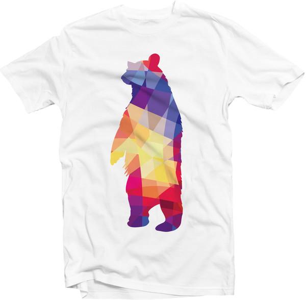 t-shirt teeeland geometric bear t-shirt menswear women t shirts mens t-shirt women tshirts design