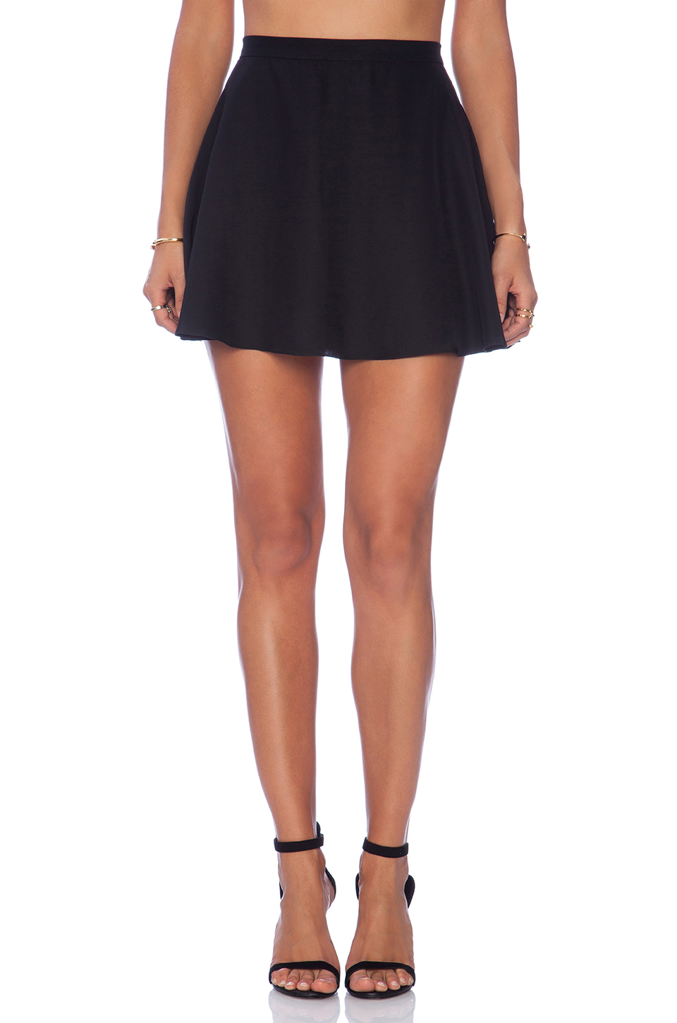 Amanda uprichard circle skirt in black from revolveclothing.com