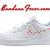 Custom Supreme Red Monogram Nike Air Force 1 Shoes White Low, #fashion #supremelv by Bandana Fever