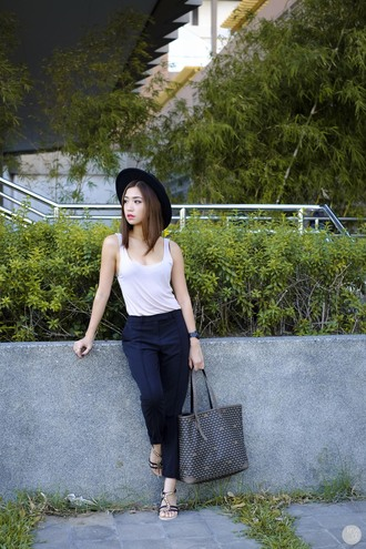 kryzuy blogger hat tank top shoes jewels bag