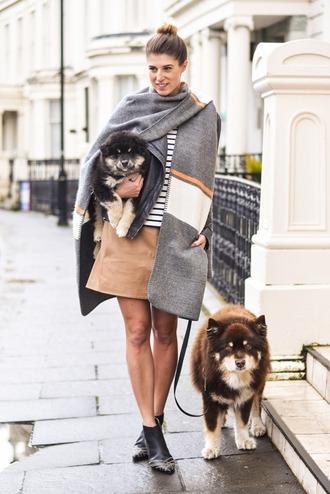thank fifi blogger jacket top skirt shoes coat