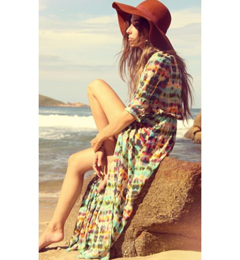 Tie Dye Beach Cover Dress