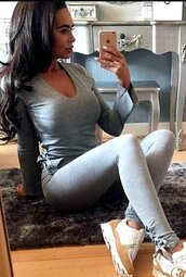 tights,grey,grey tracksuit,grey t-shirt,long sleeves,gray long sleeve,grey long sleeve,casual suit,casual,casual tracksuit,sportswear,sexy,sexy suit,fitness,fitness pants,sports suit,grey tights,gray leggings,lace up,hollow out,strappy,strappy suit,bodycon,tight,bodycon jumpsuit sport,joggers pants,jogging suit,deep v,plunge v neck,musthave,must-have,preppy,preppy suit,fashion toats,tumblr,tumblr outfit,moraki,leggings,pants,romper,jumpsuit,t-shirt,grey tracksuitbottoms,grey long sleeve tribal shirt,casual suits,fitness sexy suit,side open design,joggers