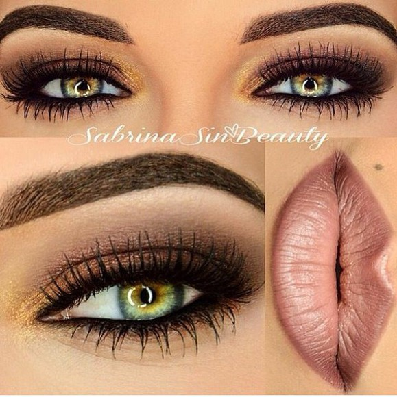 ombre make-up brow eyeshadow