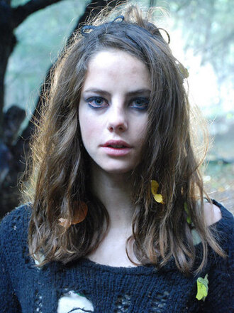 sweater ripped shredded effy stonem eyeliner grey sweater