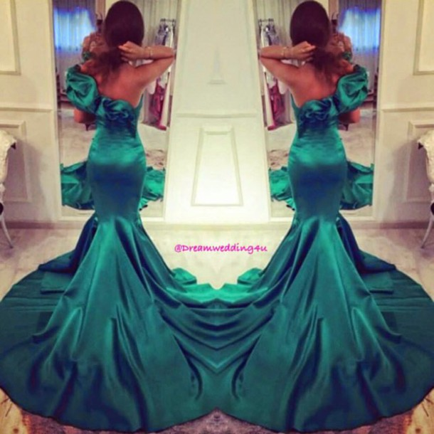 dress long dress evening dress grenn