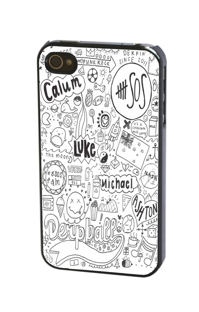 5SOS 5 Seconds of Summer Ash Luke Calum Michael Case Cover for iPhone