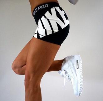 shorts black pants nike pro shorts sport short