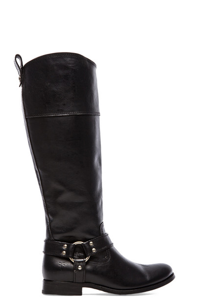 Frye boot zip black