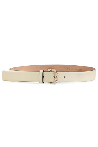 belt leather white
