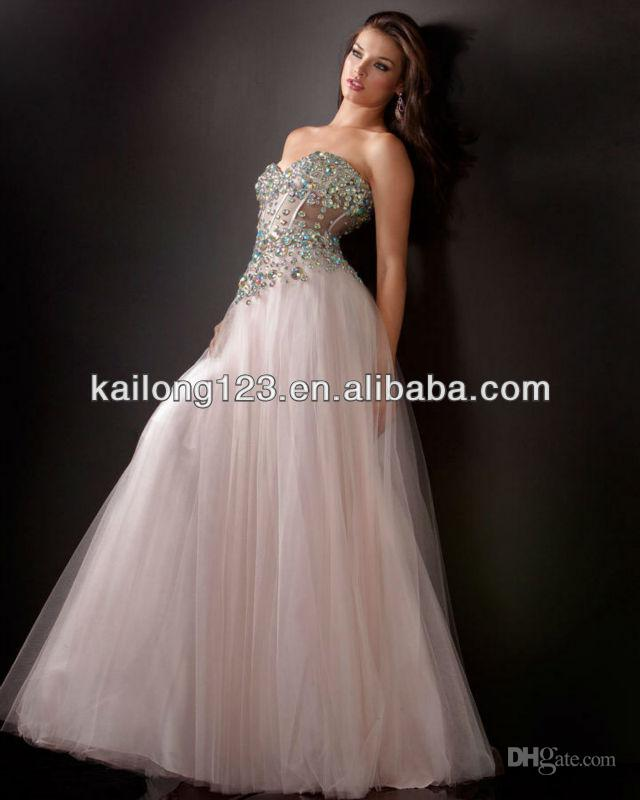 Ornate Sweetheart Beaded Corset Top Sheer Panels Ball Gown Prom ...